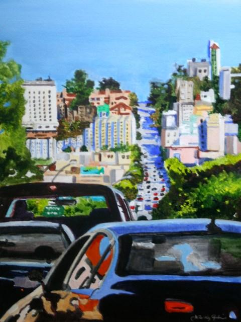 """Headed Towards the Marina"" original fine art by JoAnne Perez Robinson"