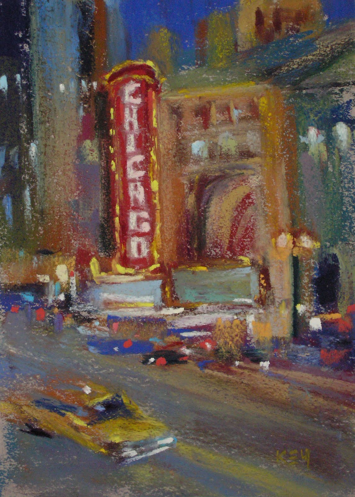"""""""Painting Chicago...My Kind of Town!"""" original fine art by Karen Margulis"""