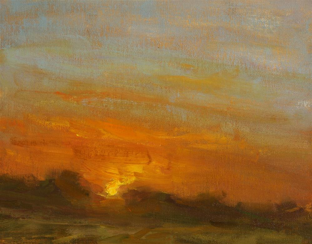 """Sunrise Study - South Texas 3"" original fine art by Scott Serafica"