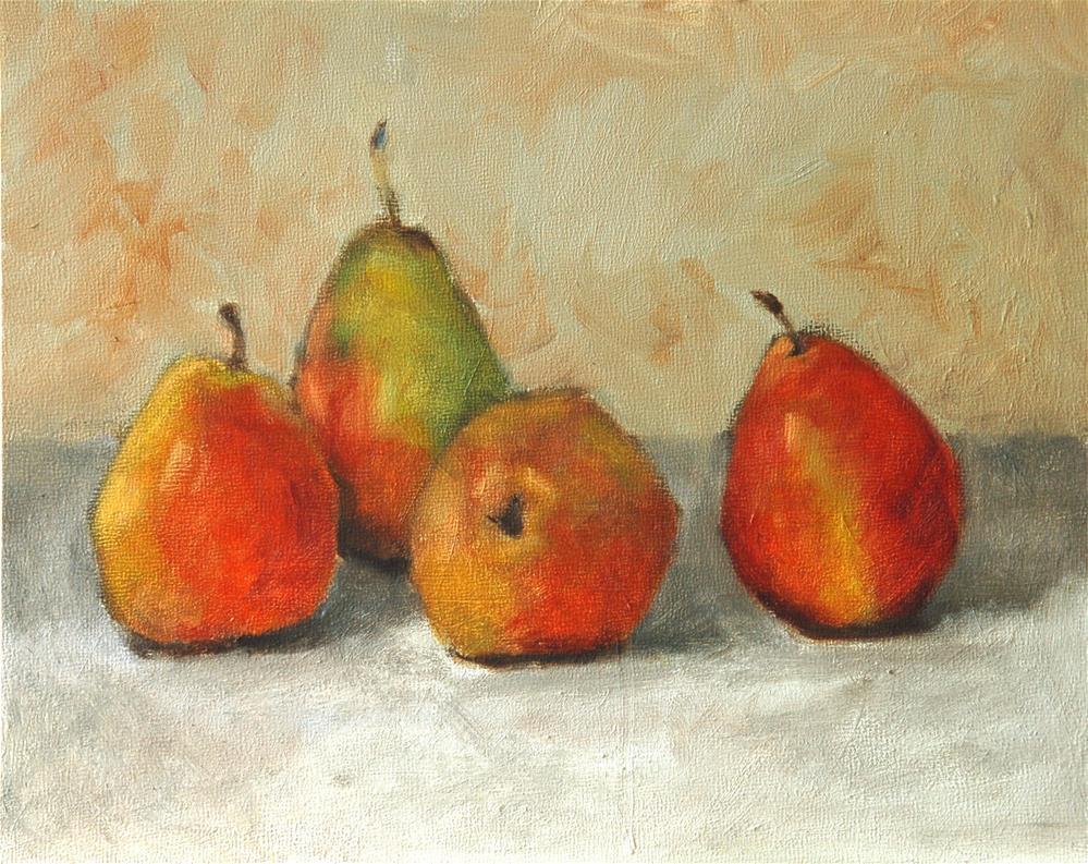 """Apple gathering"" original fine art by Philla Barkhorn"