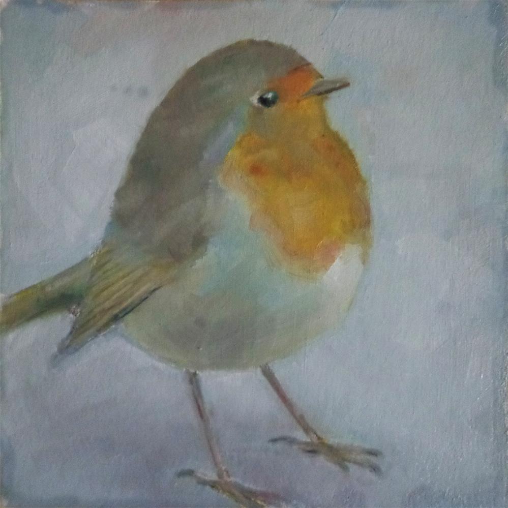 """Robin"" original fine art by Maria Z."