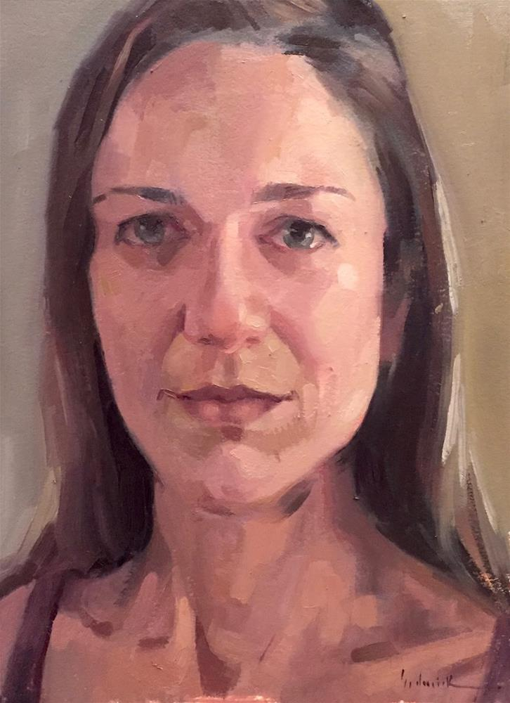 """Self-Portrait, With Video"" original fine art by Sarah Sedwick"