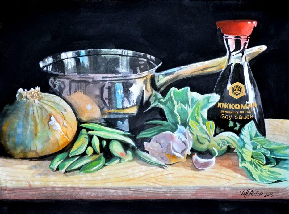 """""""Stir Fry"""" original fine art by Jeff Atnip"""
