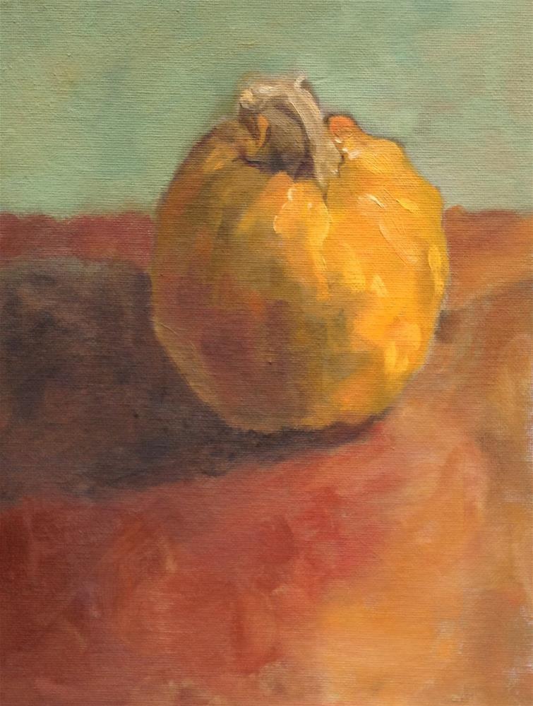 """""""One Little Pumpkin"""" original fine art by Philla Barkhorn"""