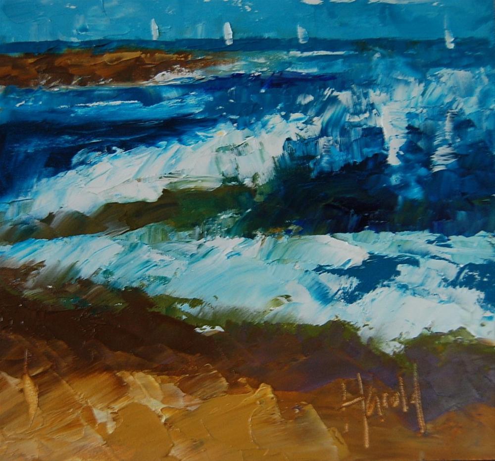 """The Wedge"" original fine art by Deborah Harold"