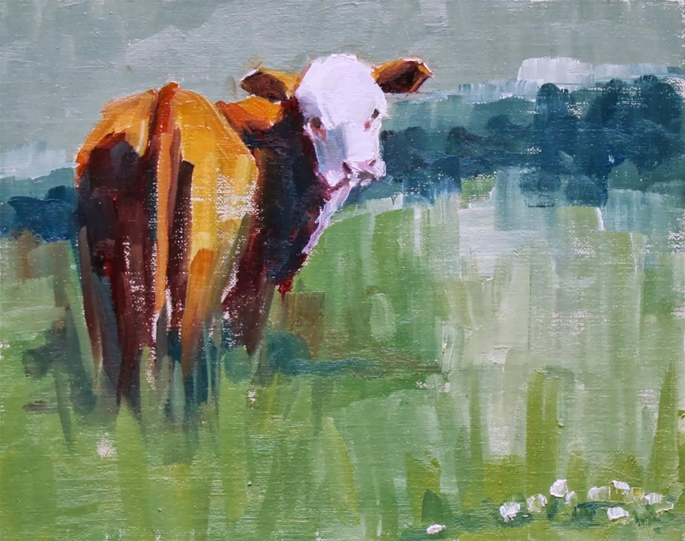 """checking in"" original fine art by Carol Carmichael"