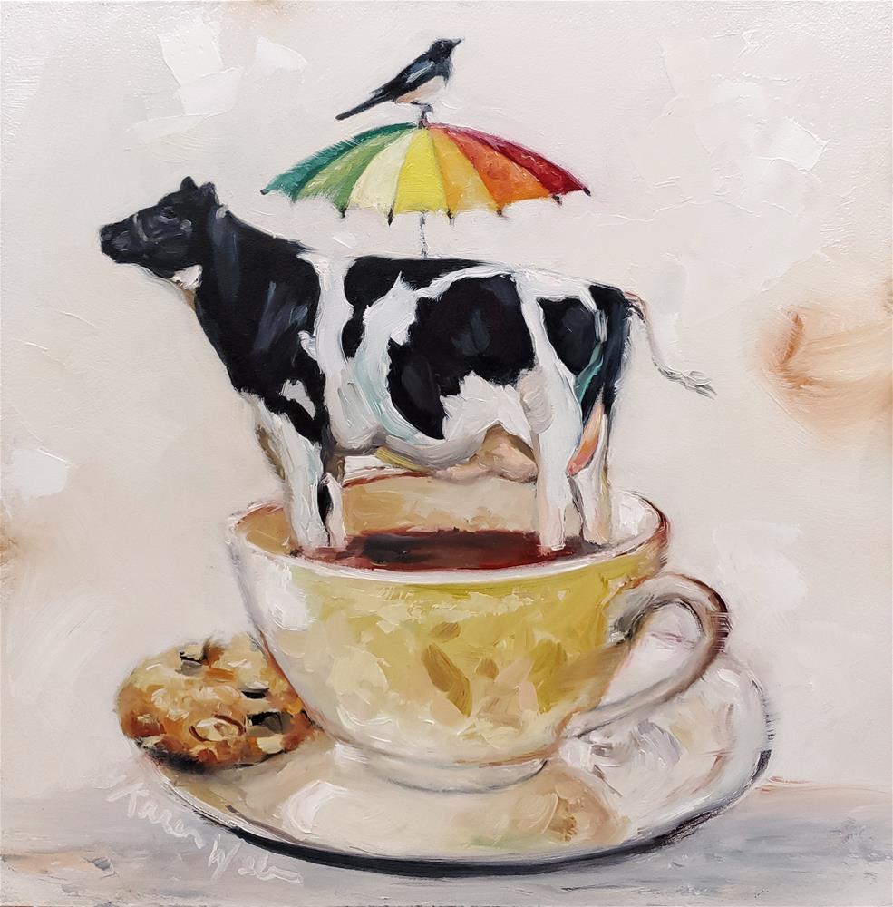 """Colorful Broo"" original fine art by Karen Weber"