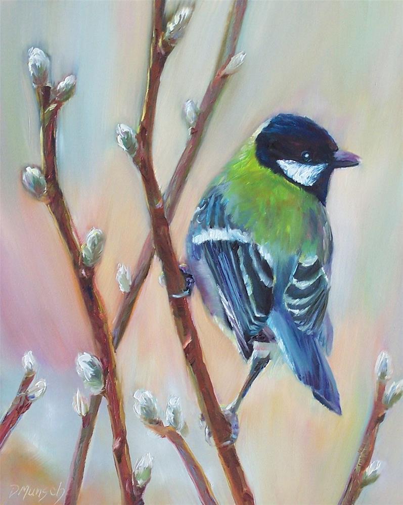 """""""Willow Bird"""" original fine art by Donna Munsch"""