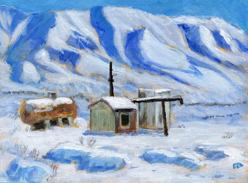 """Mojave Desert Winter"" original fine art by Stanley Epperson"