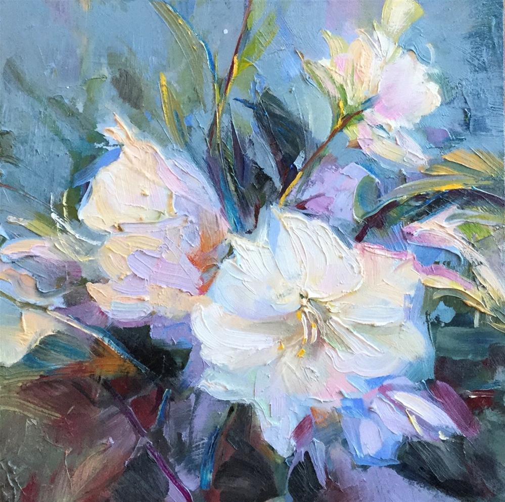 """Encore Azaleas"" original fine art by Charlotte Fitzgerald"