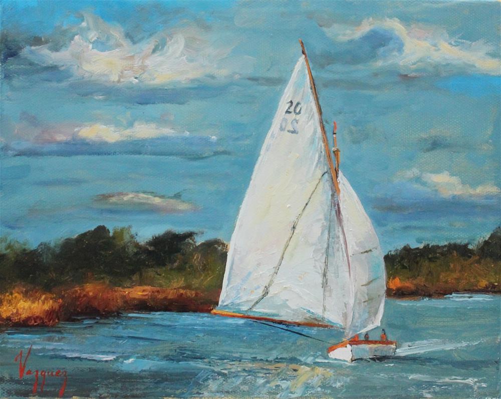 """Sailboat"" original fine art by Marco Vazquez"