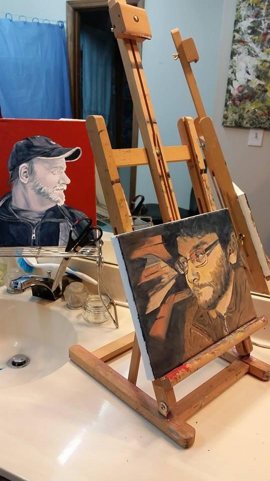 """Working progress: Oil"" original fine art by Gabriella DeLamater"