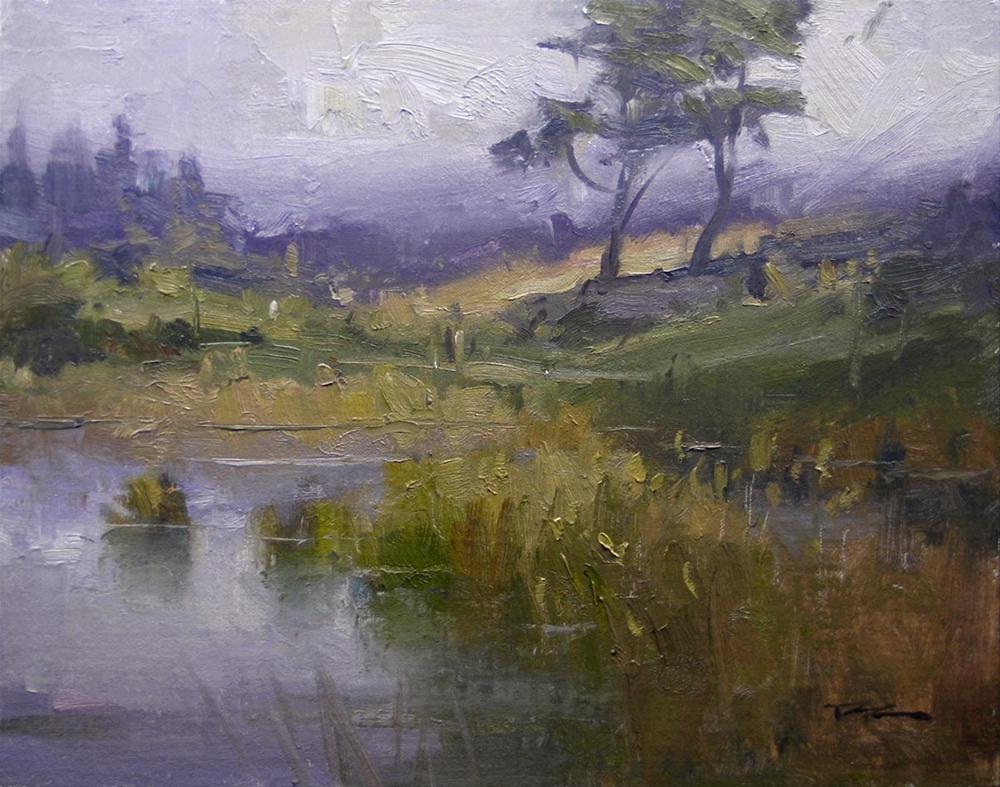 """Westerly, Waipu Golf Course"" original fine art by Richard Robinson"