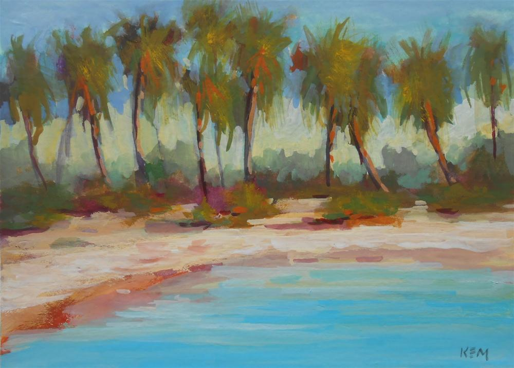 """""""Painting in the Bahamas ...Trip Report Day One"""" original fine art by Karen Margulis"""