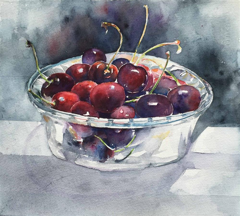 """cherry"" original fine art by Wenqing Xu"