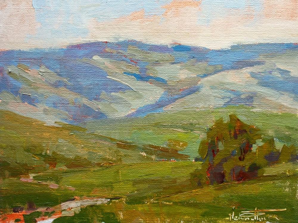 """Blue Mountain Afternoon"" original fine art by Melanie Thompson"