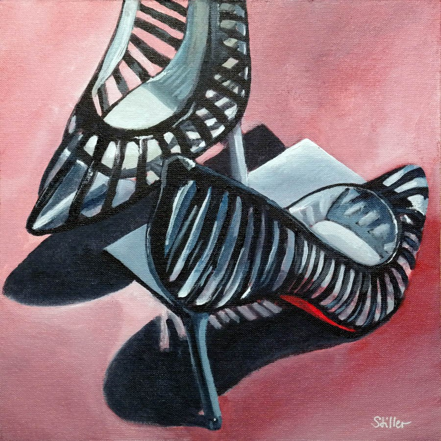 """""""2341 Ceci n'est pas un Lou shoe"""" original fine art by Dietmar Stiller"""