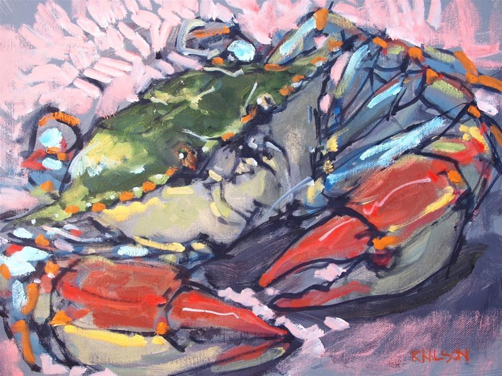 """This Crab"" original fine art by Rick Nilson"