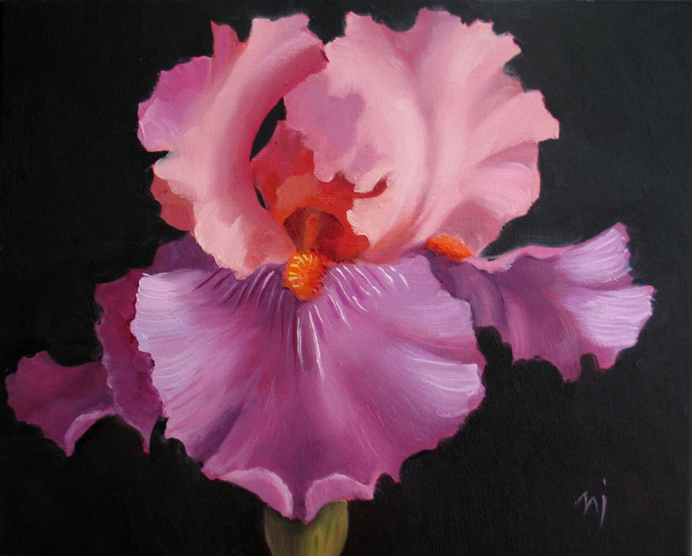 """""""Drama in the Garden"""" original fine art by Nel Jansen"""