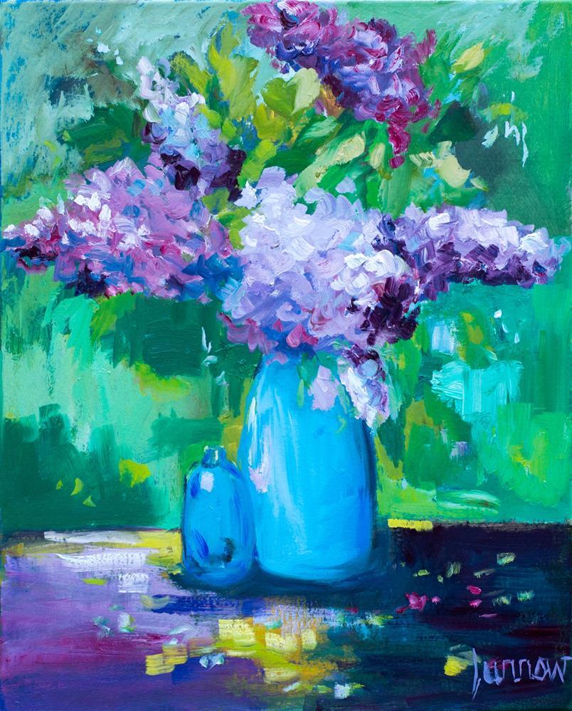 """Lesson #3 -Lovely Lilacs"" original fine art by Sue Furrow"