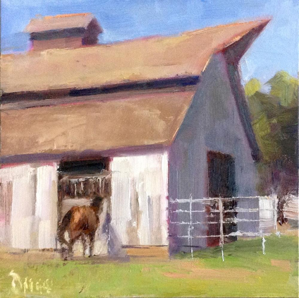 """Horse At The Door"" original fine art by Barbie Smith"