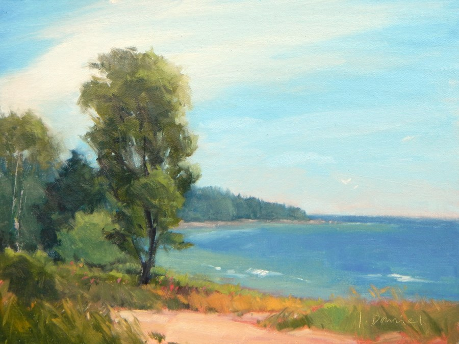 """Windy Bay - Door County Plein Air Festival"" original fine art by Laurel Daniel"