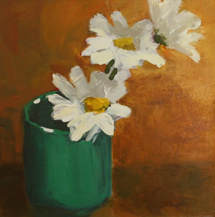 """Daisy Cup"" original fine art by Shannon Bauer"