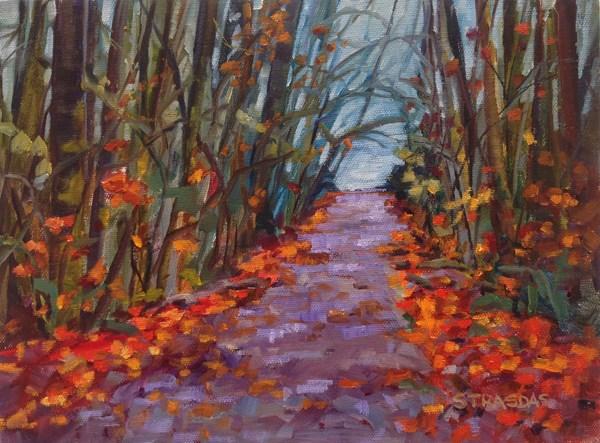 """""""Fall at Goldstream"""" original fine art by Marcela Strasdas"""