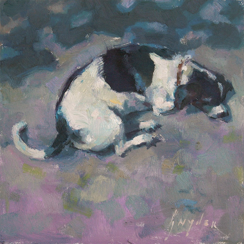 """""""A Dog's Life"""" original fine art by Julie Snyder"""