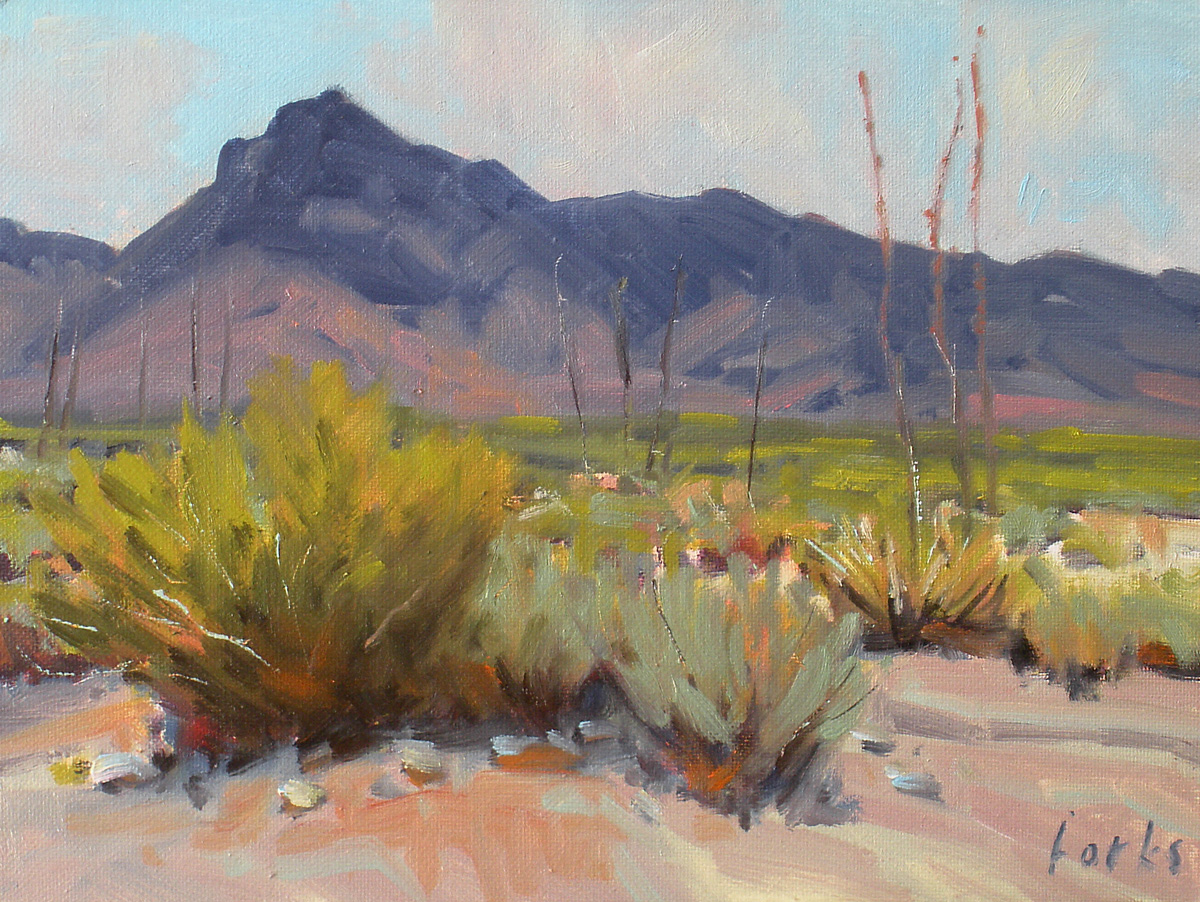 """Sage and Sotol"" original fine art by David Forks"