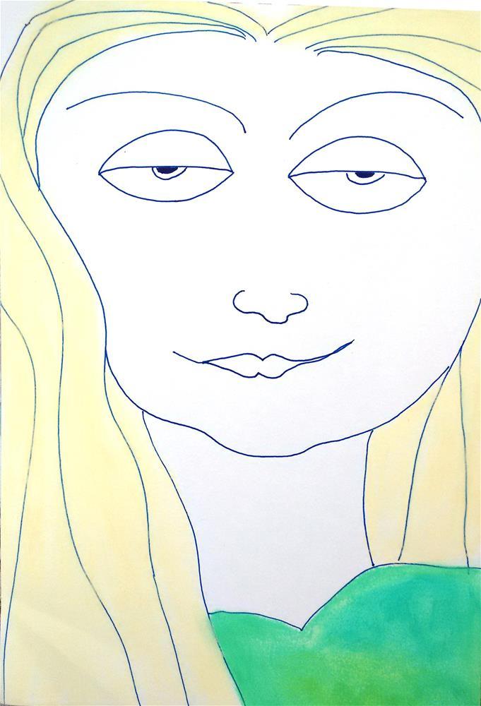 """Jessica"" original fine art by Adéla Svobodová"