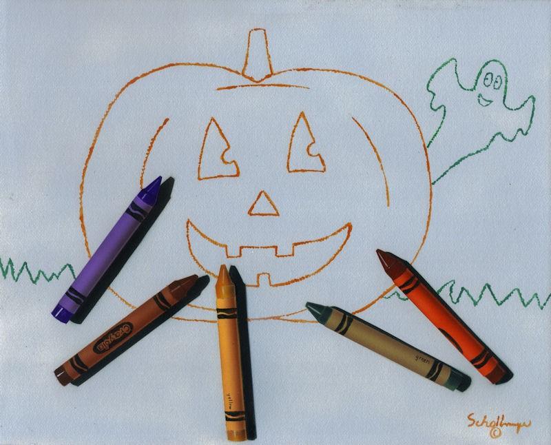 """October Fun"" original fine art by Fred Schollmeyer"