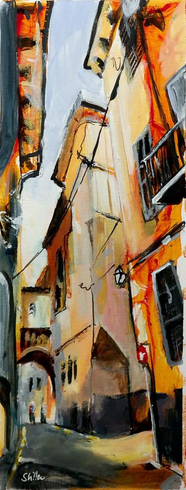 """2397 Palma Streetview 5"" original fine art by Dietmar Stiller"
