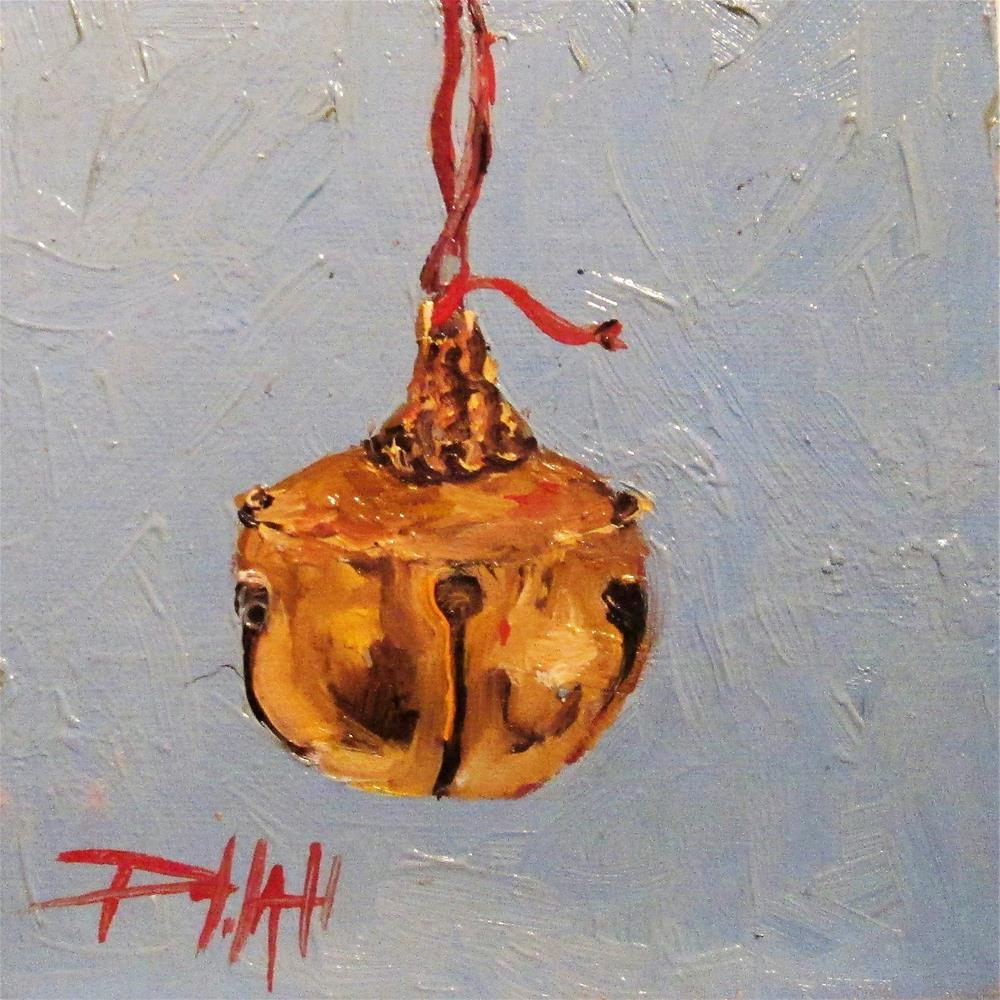 """Gold Bell"" original fine art by Delilah Smith"