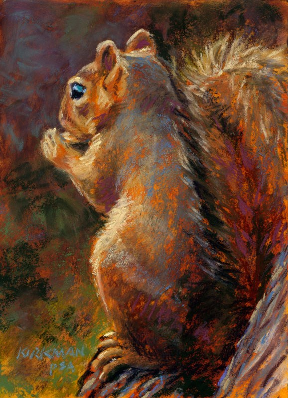 """Nibbler - day 7"" original fine art by Rita Kirkman"