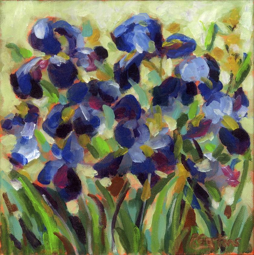 """""""Blue Velvet Iris"""" original fine art by Pamela Gatens"""