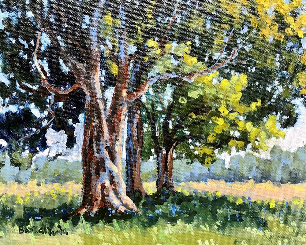 """ Sale Painting Trees"" original fine art by Linda Blondheim"