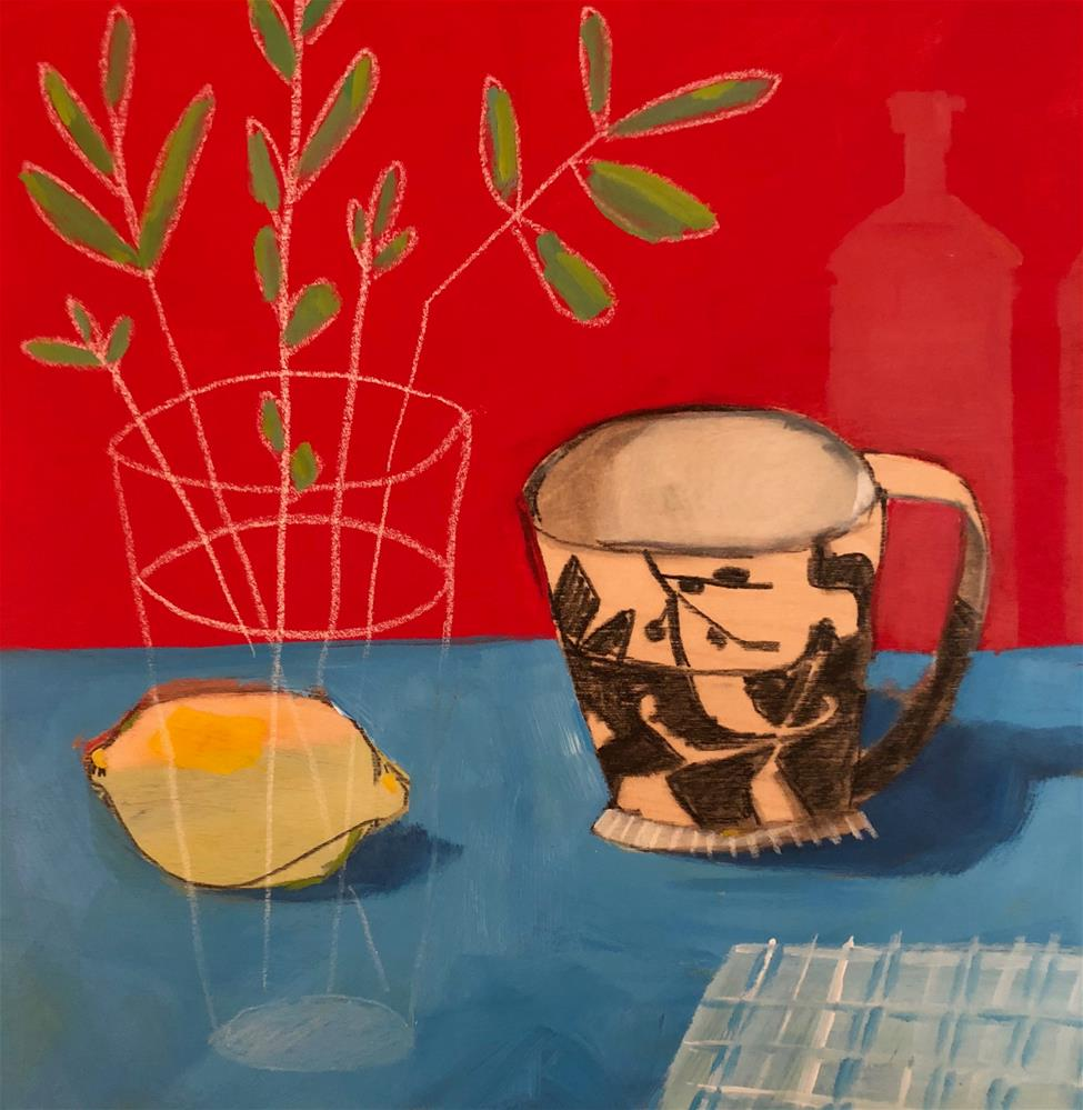 """0810: Saturday Morning Coffee"" original fine art by Brian Miller"