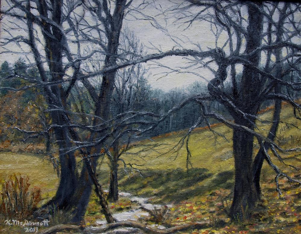 """""""Little Creek in the Horse Pasture (C) 2013 by K. McDermott"""" original fine art by Kathleen McDermott"""