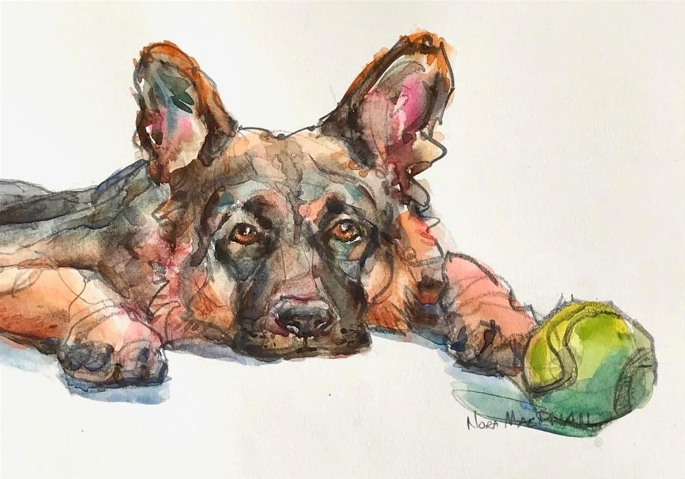 """tennis anyone?"" original fine art by Nora MacPhail"