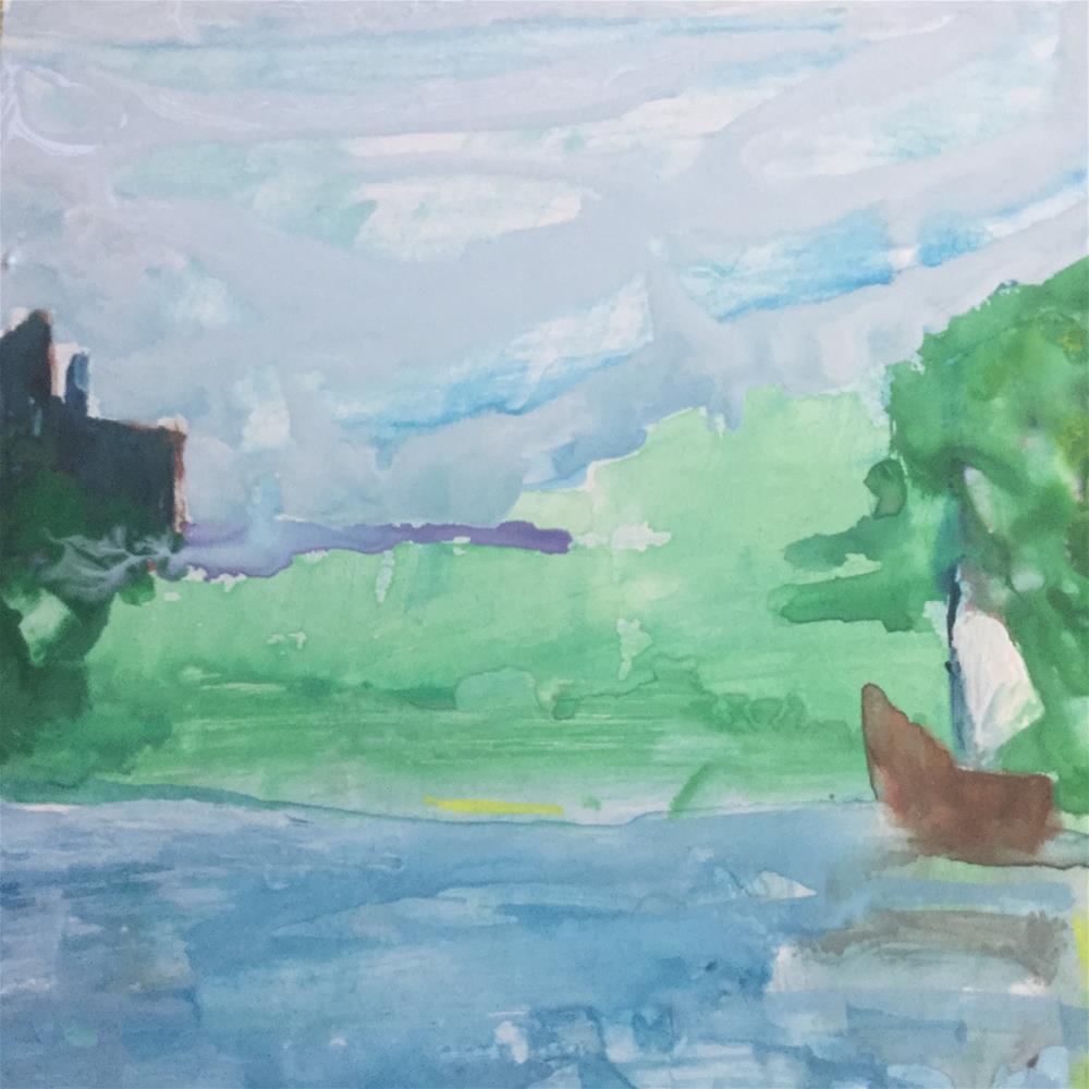 """Bermuda 2"" original fine art by pamela kish"