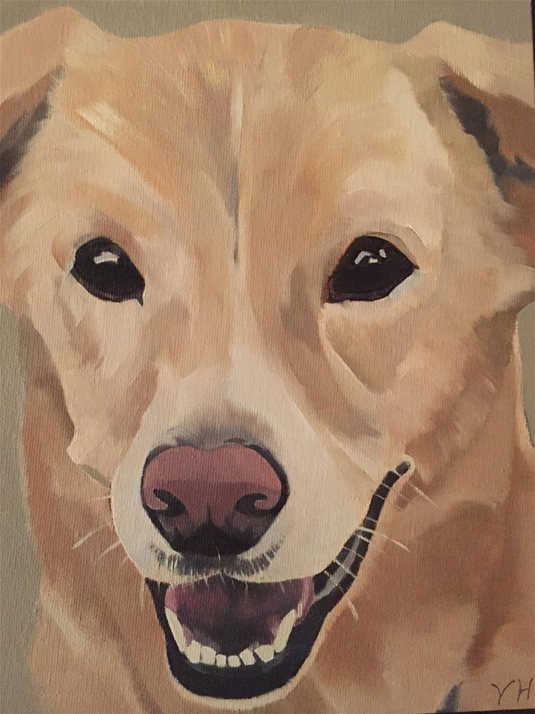 """stanley"" original fine art by vicki Hardesty"