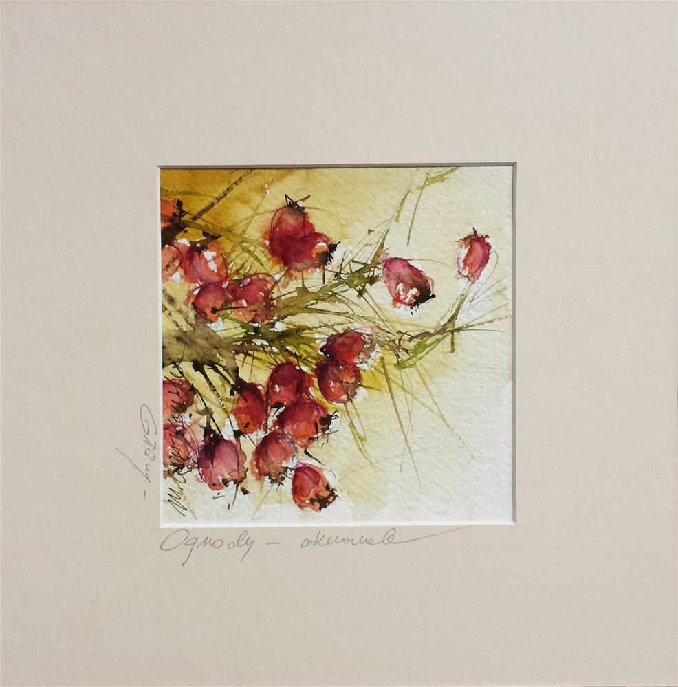 """Hawthorn 2"" original fine art by Marlena Czajkowska"