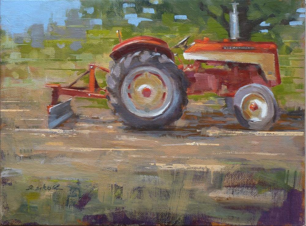 """""""International 424"""" original fine art by Ron Ferkol"""