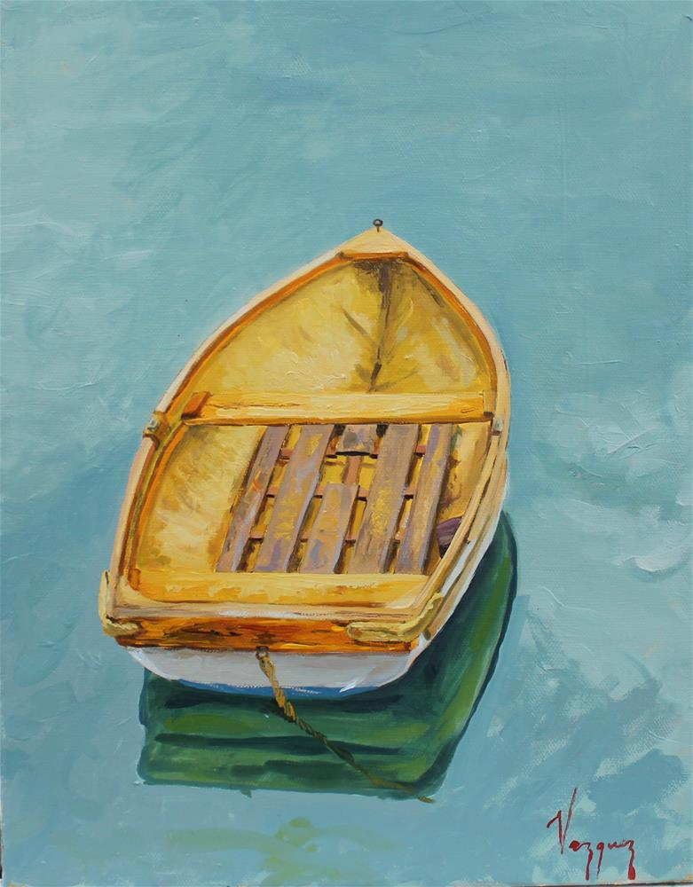 """""""Boat from above """" original fine art by Marco Vazquez"""