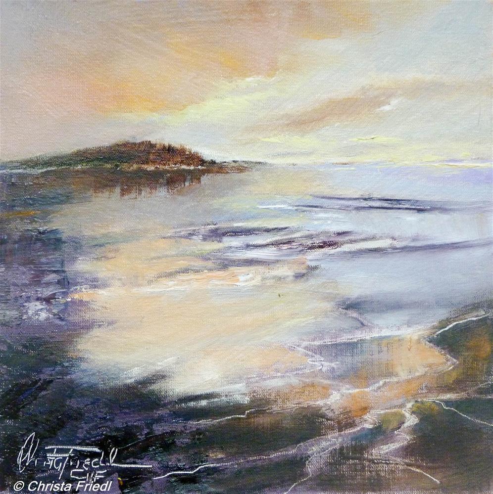 """Low Tide"" original fine art by Christa Friedl"