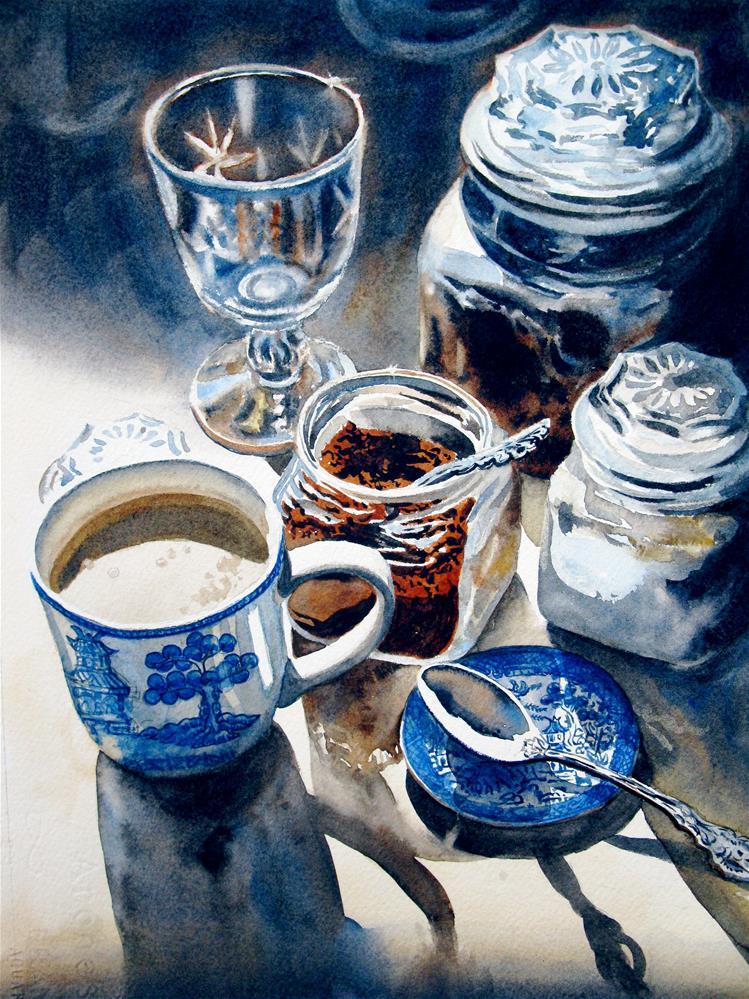 """""""Coffee In An Instant"""" original fine art by carolyn watson"""