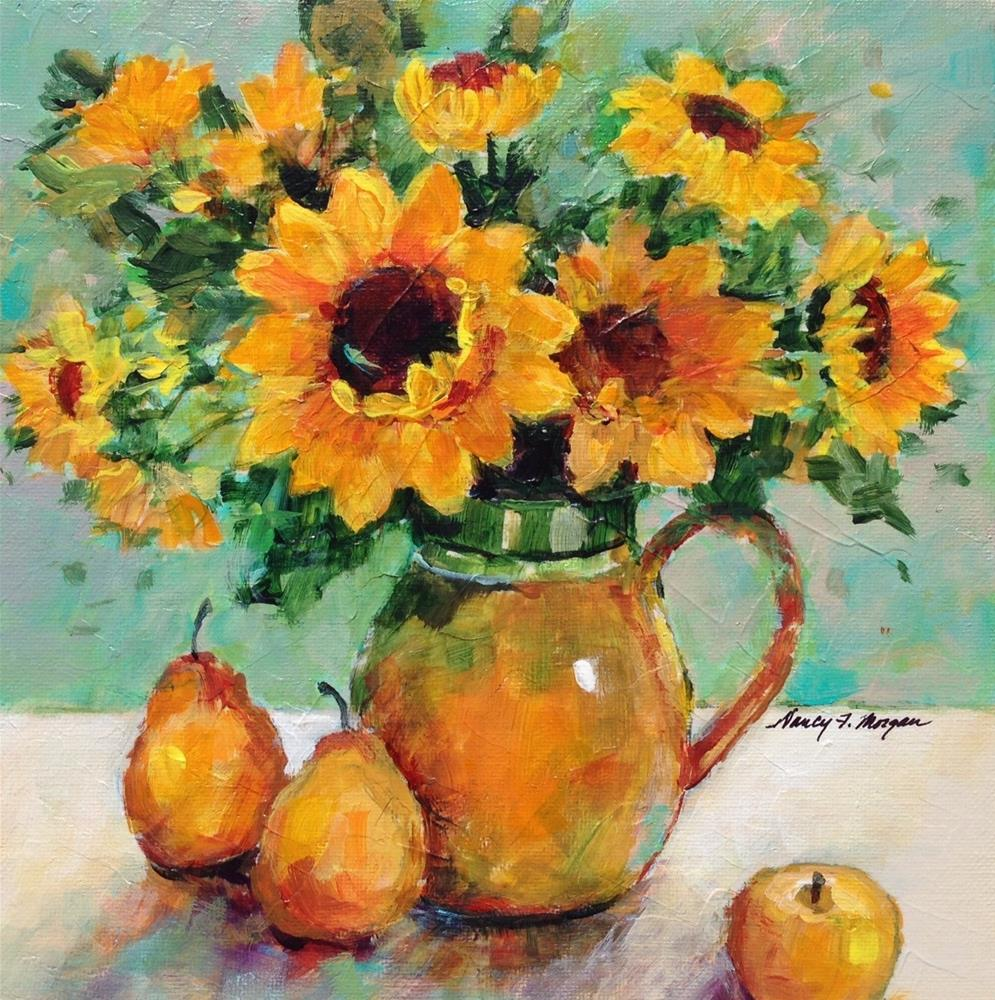 """Sunday Sunflowers"" original fine art by Nancy F. Morgan"