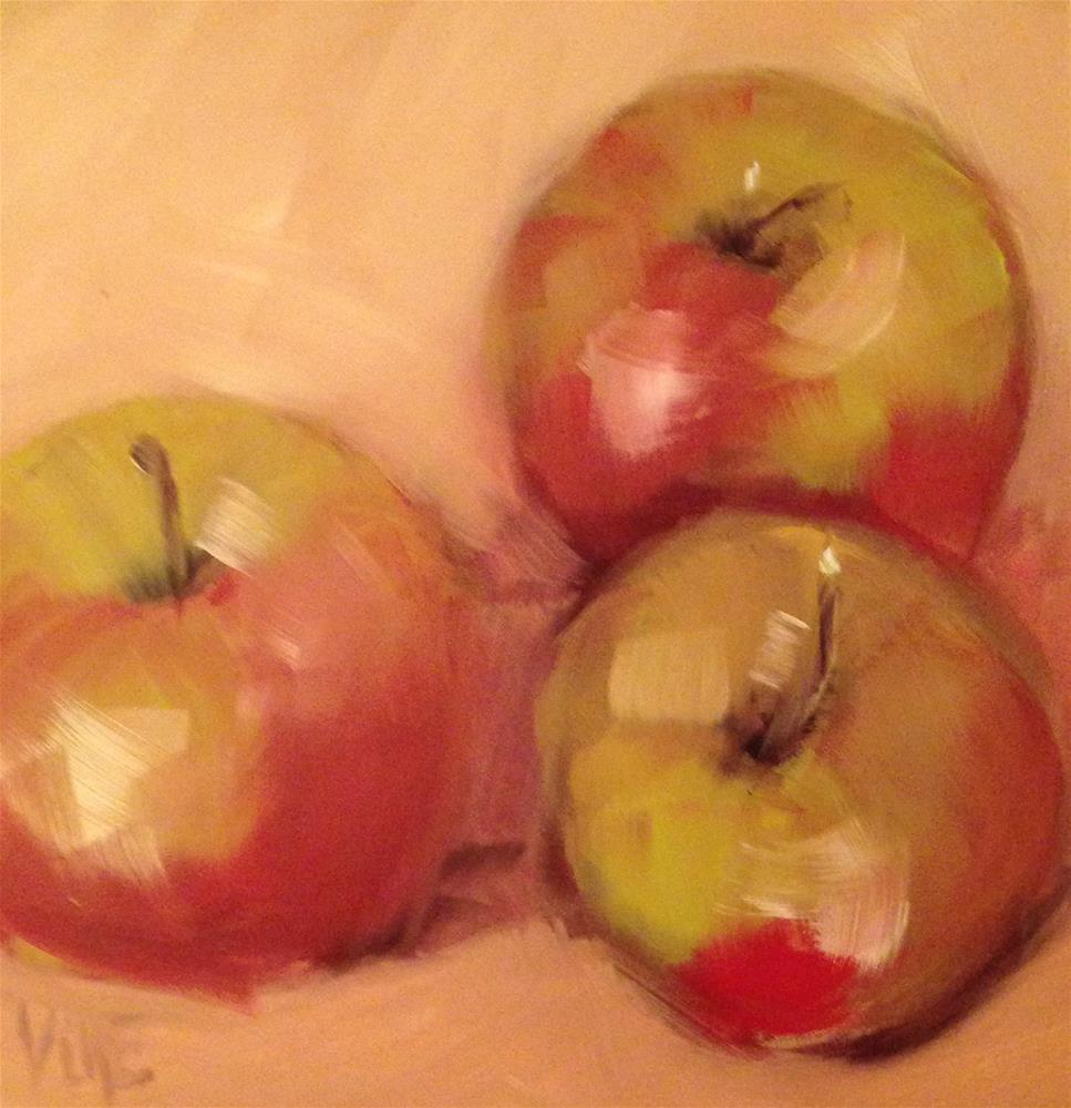 """#43 April Apples #1"" original fine art by Patty Voje"