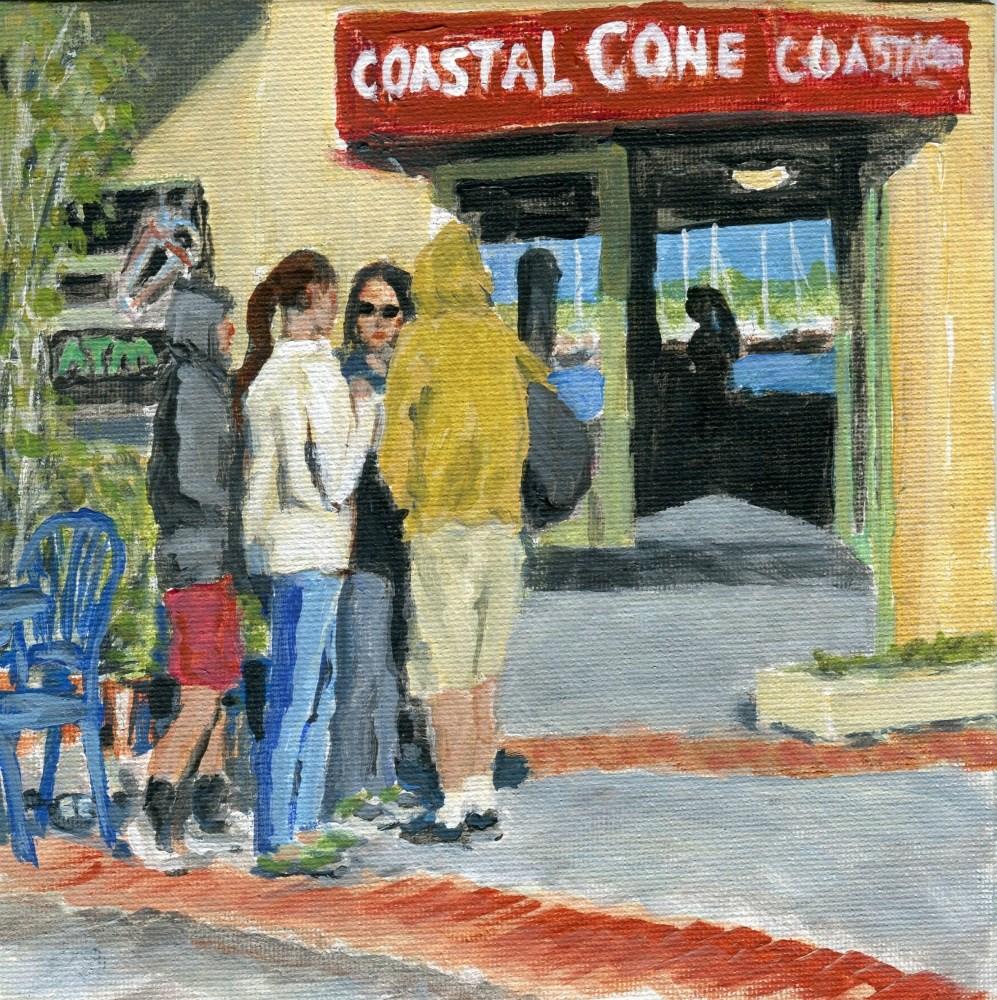 """Cone Heads"" original fine art by Stanley Epperson"
